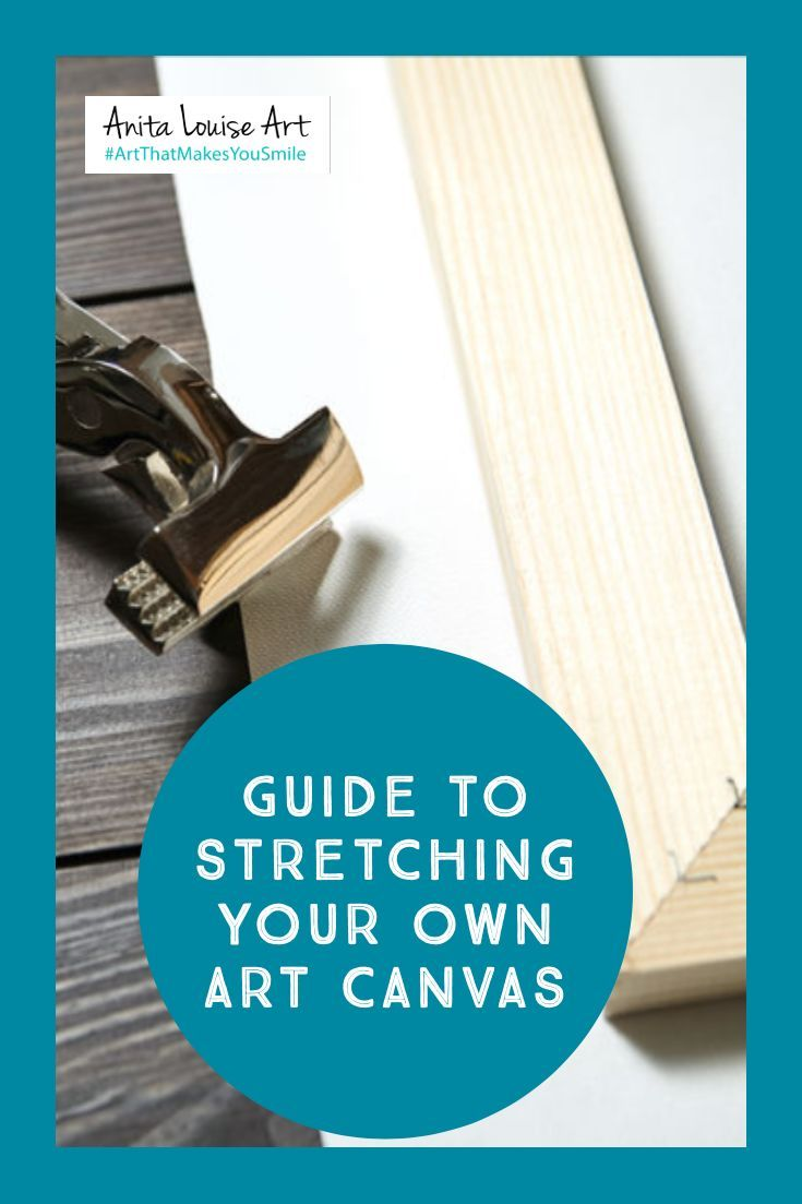 how to stretch a canvas on stretcher bars