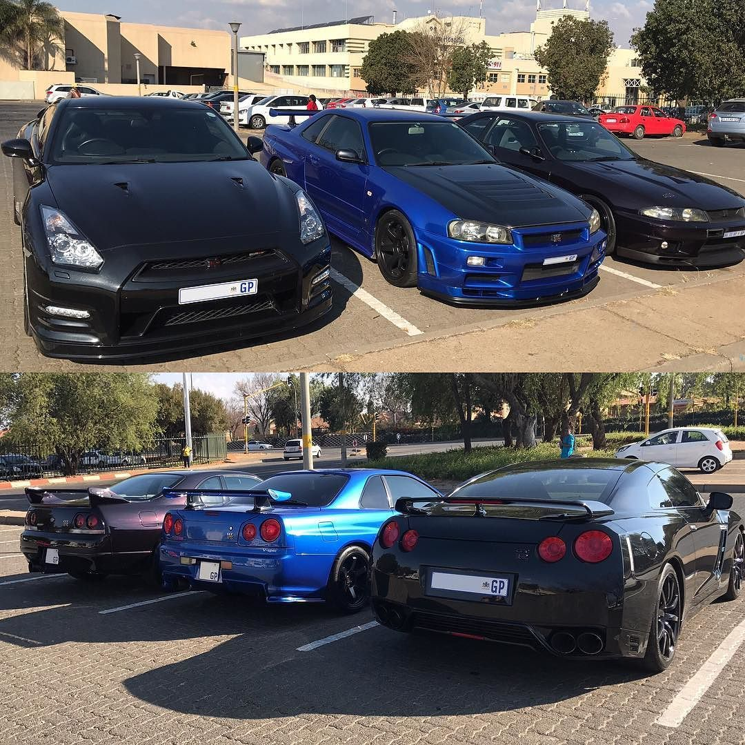 Superb GTR Gang Spotted In Alberton By @xolisa_m #ExoticSpotSA #Zero2Turbo  #SouthAfrica #Nissan #GTR #R35 #R34 #R33