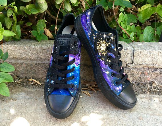 1568138ec3d Galaxy Converse    Custom Hand-Painted Space-Themed Shoes    Chuck Taylor
