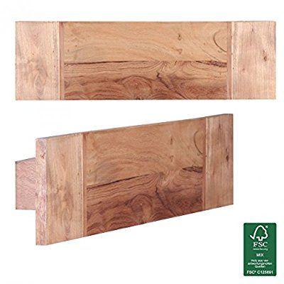 Wohnling toallero madera maciza acacia 50 cm estante de for Muebles de bano de madera maciza natural