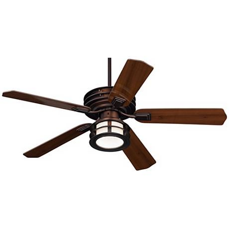 52 Casa Vieja Mission Ii Bronze Outdoor Ceiling Fan Bronze