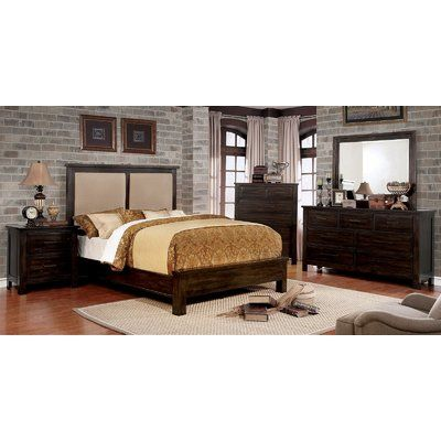 Foundry Select Baptiste Upholstered Panel Bed Color Antique Gray