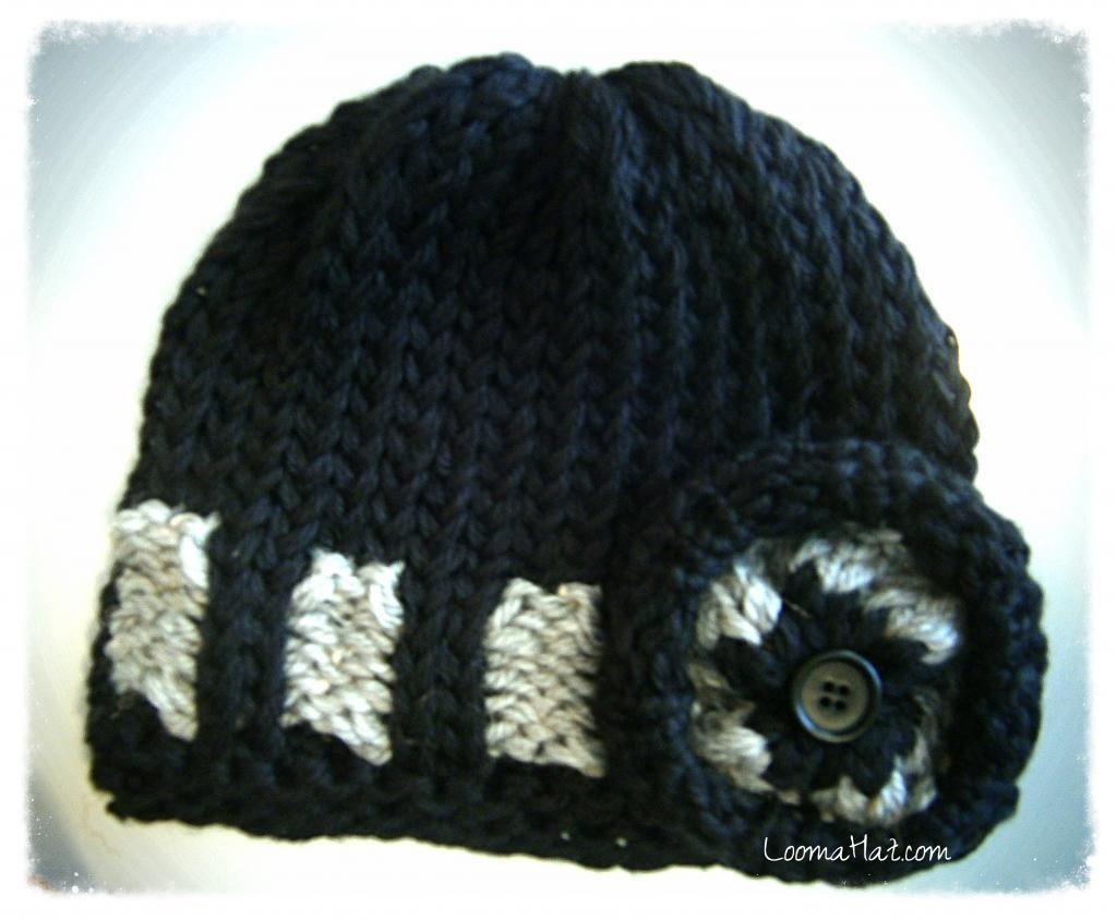 Loom Knit Hat Pattern the Belt Loop Hat designed by Denise Canela ...