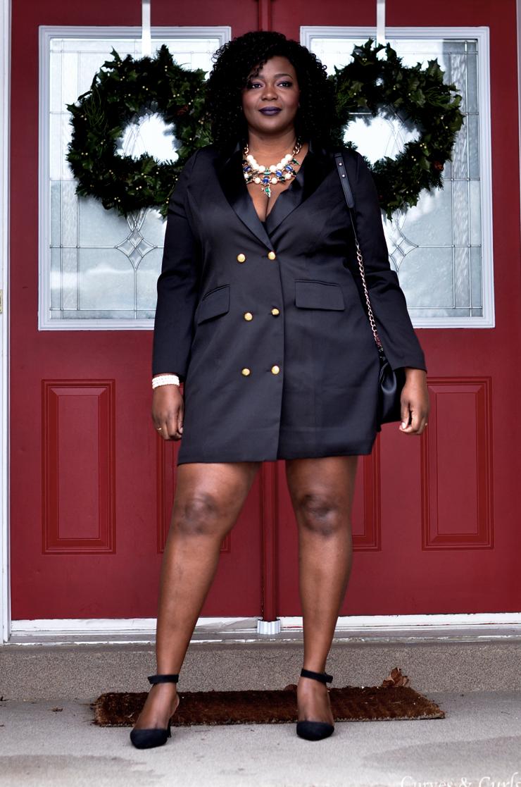 THE TUXEDO DRESS | Plus size black dresses, Plus size ...