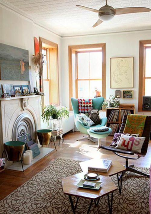 Wohnzimmergestaltung Ideen Im Retro Stil 30 Beispiele Als