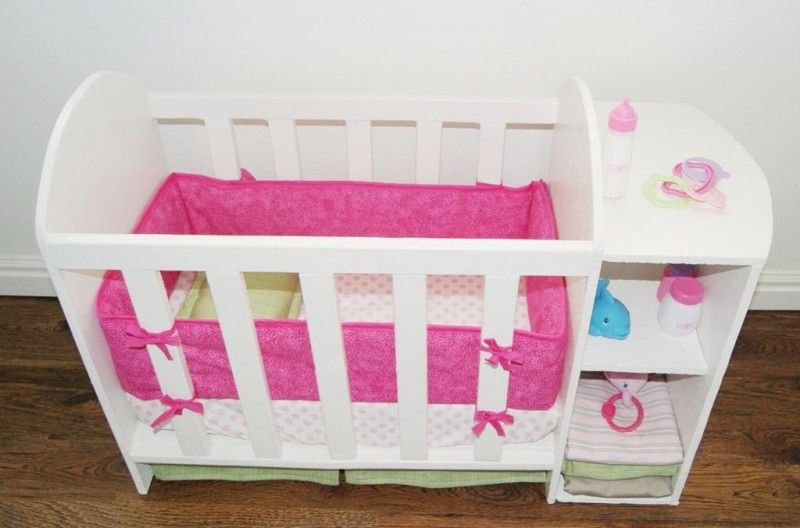 DIY baby doll bed and changing station. Make her furniture for her ...