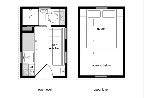 Tiny House Floor Plans With Lower Level Beds Tiny House Design