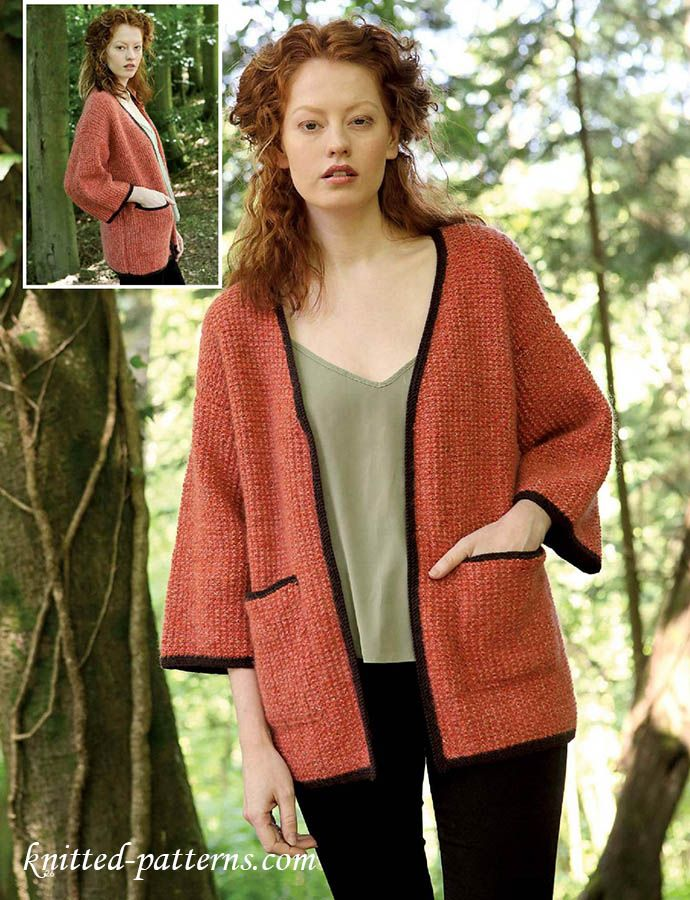 Kimono knitting pattern | DIY | Pinterest