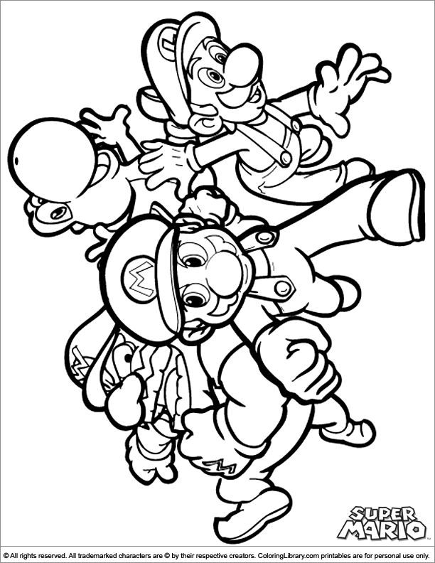 Super Mario Brothers Coloring Page Mario Coloring Pages Super Mario Coloring Pages Cartoon Coloring Pages