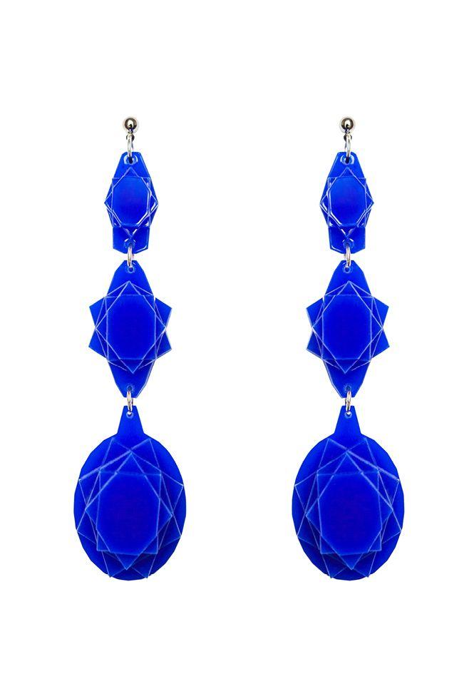 Baguera Vectory Earrings Indigo
