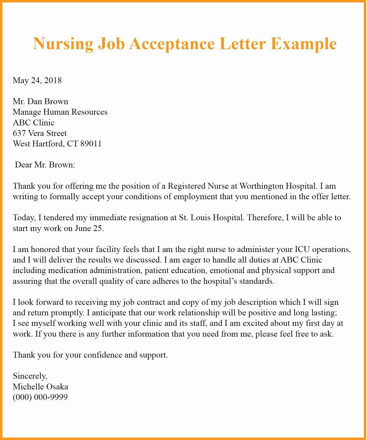 Example Resignation Letter for Nurses Beautiful 9 Job