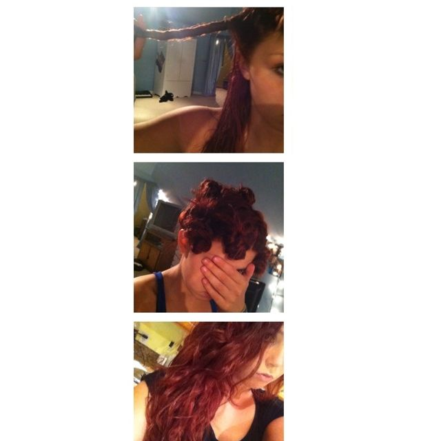 Curly hair over night: 1) take a shower 2) take a small section of your hair and twist it, then wrap it into a small bun. Keep doing that until you have small buns all over your head  3) once your done, go to sleep and when you wake up make sure it's dry then take it out!