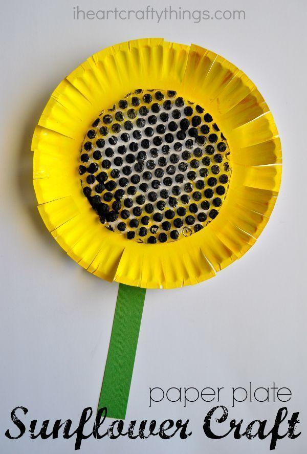 Paper Plate Sunflower Craft Summer Pinterest Crafts For Kids