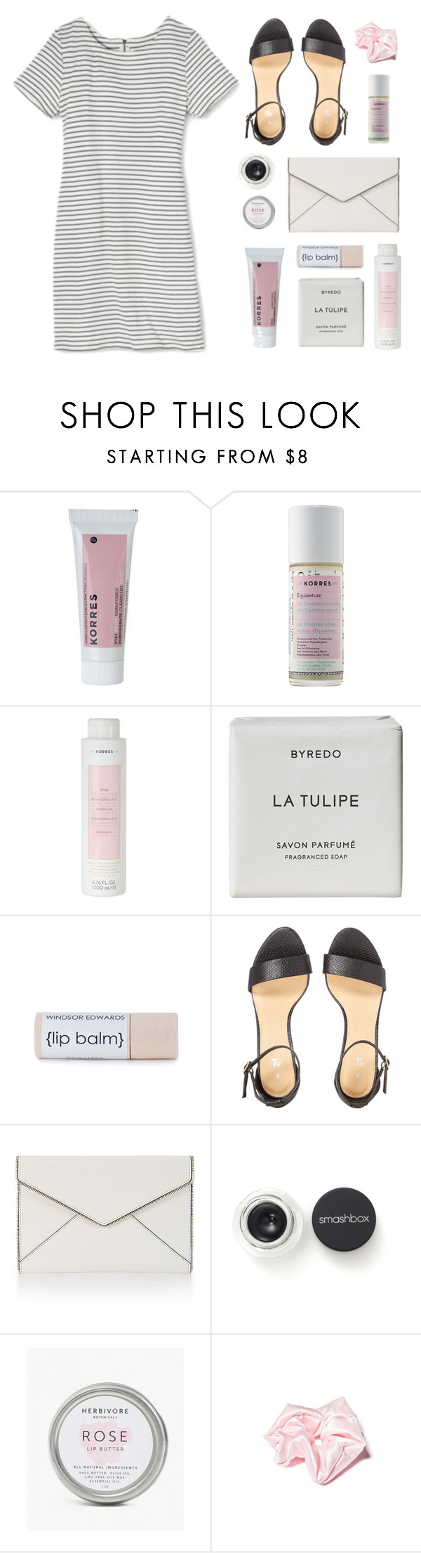 """Girl Power"" by amazing-abby ❤ liked on Polyvore featuring Merona, Korres, Byredo, Rebecca Minkoff, Smashbox and O-Mighty"
