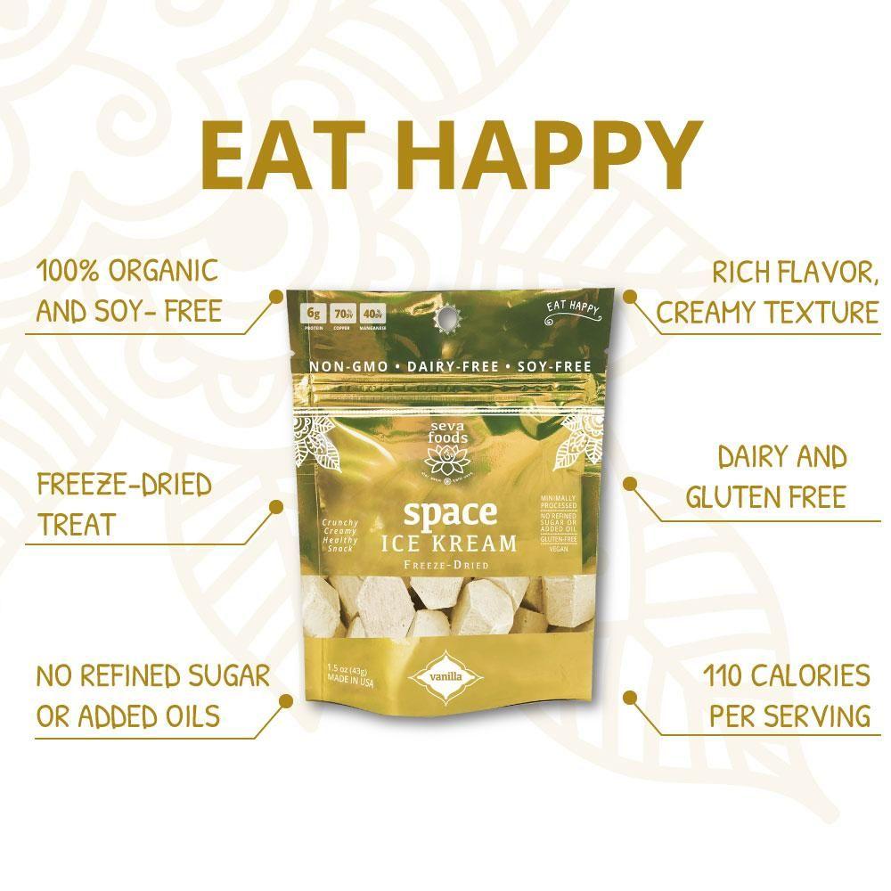 Organic Space Ice Kream Dairy Free Snacks Sugar Free Vegan Homemade Detox Drinks