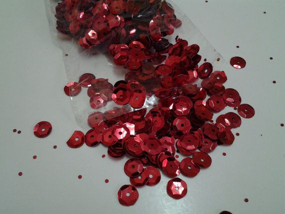 Sequin Embellishment Round Red by RuthYarns on Etsy, $1.50 #jenbnr #RT
