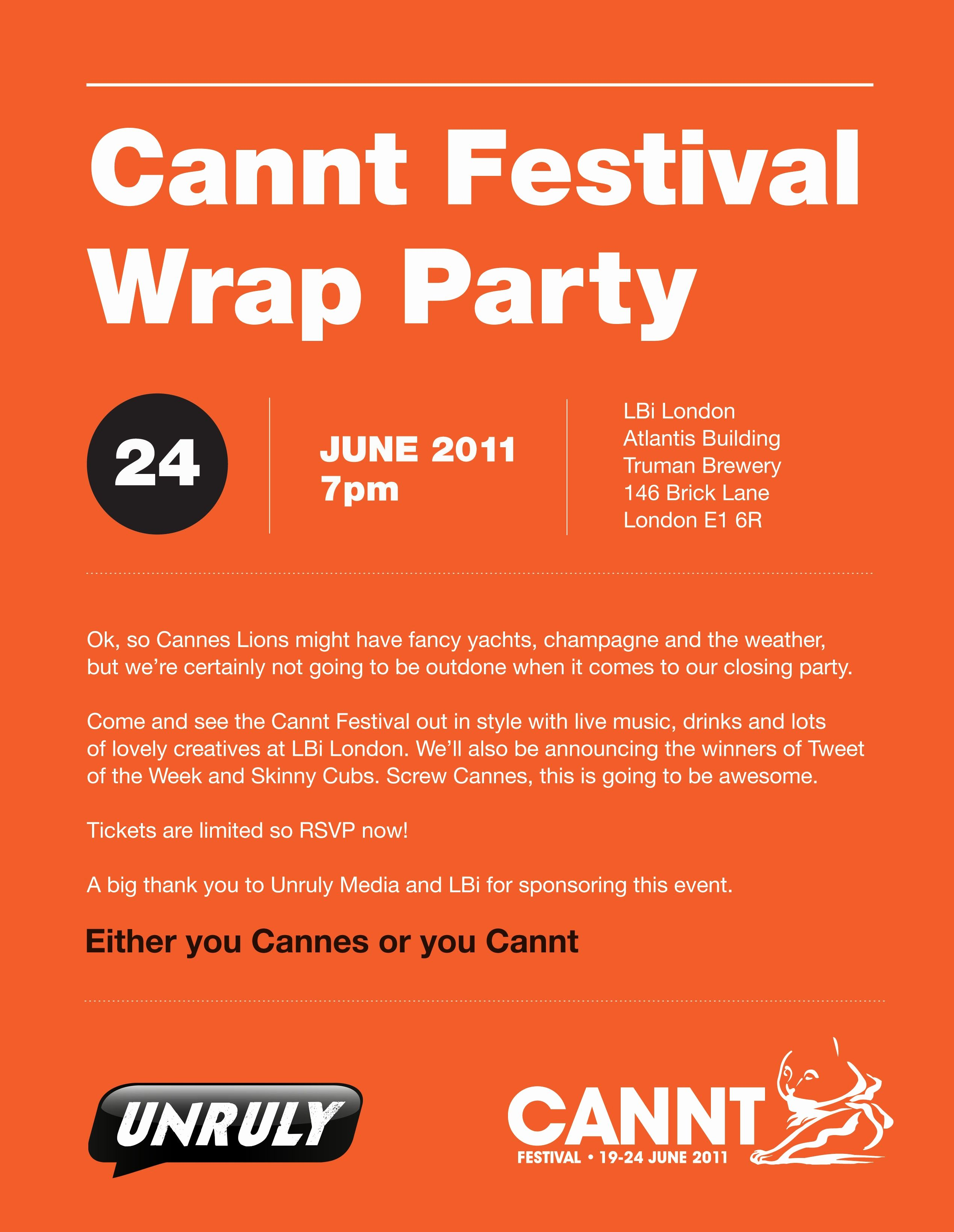 It Works Wrap Party Invitation Luxury Cannt Festival Wrap Party