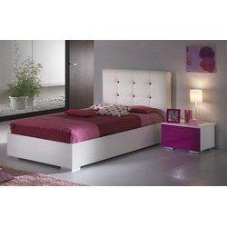Soldes Lit enfant CLARA, coloris blanc, avec tête de lit en PU - 607.81€