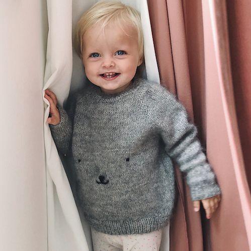PetiteKnit - Teddy Bear Sweater   Baby sweater patterns ...