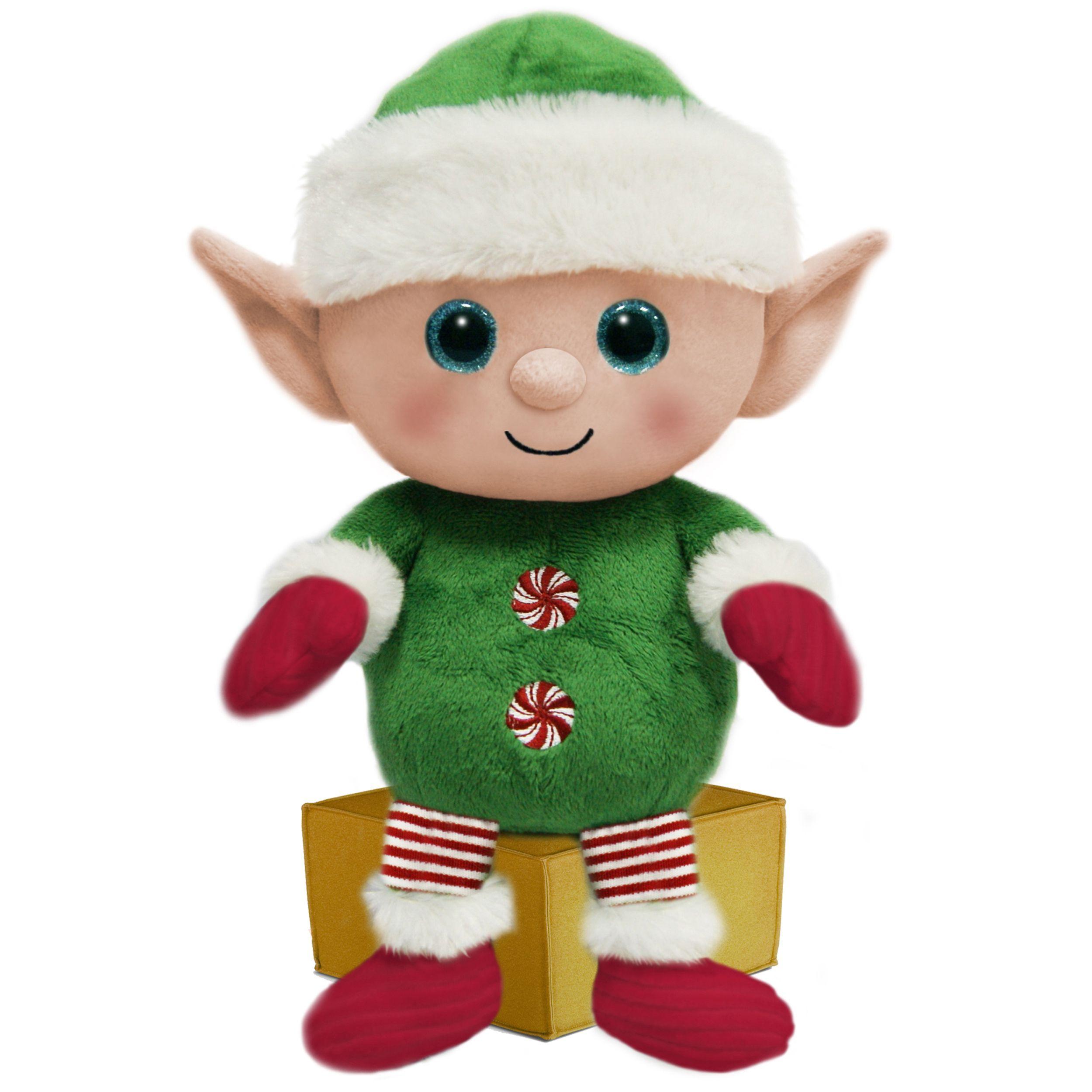 First and Main 7-inch Santa Buddies Plush Elf | Elf & Gingerbread ...