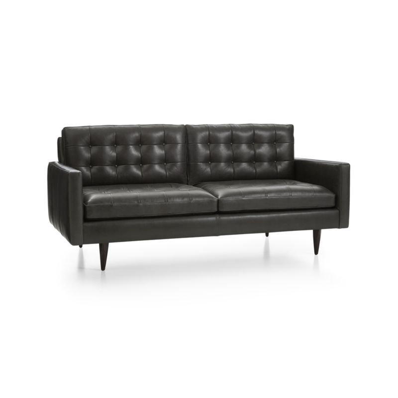Petrie Small Leather Sofa Reviews Crate And Barrel Small