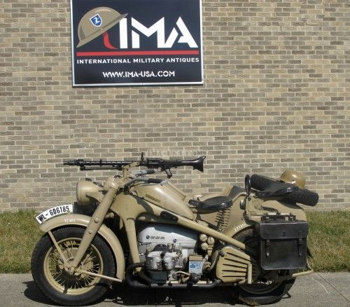 Honda Motorcycle Engine Serial Number: Original German WWII 1942 Zündapp KS 750 Motorcycle And