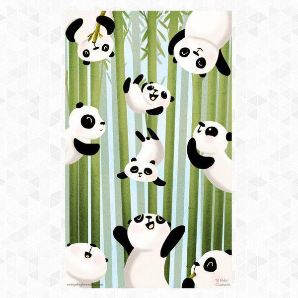 Pandamonium Print Rare Device Makes me smile! Panda