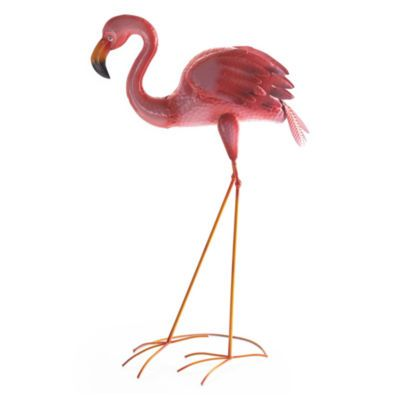 Outdoor Oasis Metal Flamingo Yard Art | Yard ornaments and Flamingo