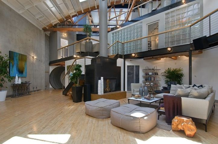 Basketball Court Living Room Loft Apartment Designs Loft Apartment Loft House