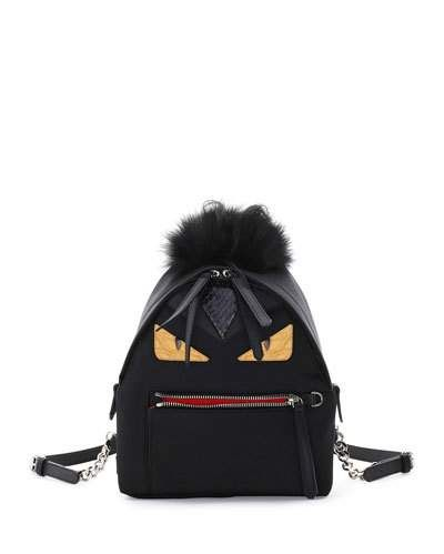 9c79257ab0 FENDI Large Monster Backpack With Fur