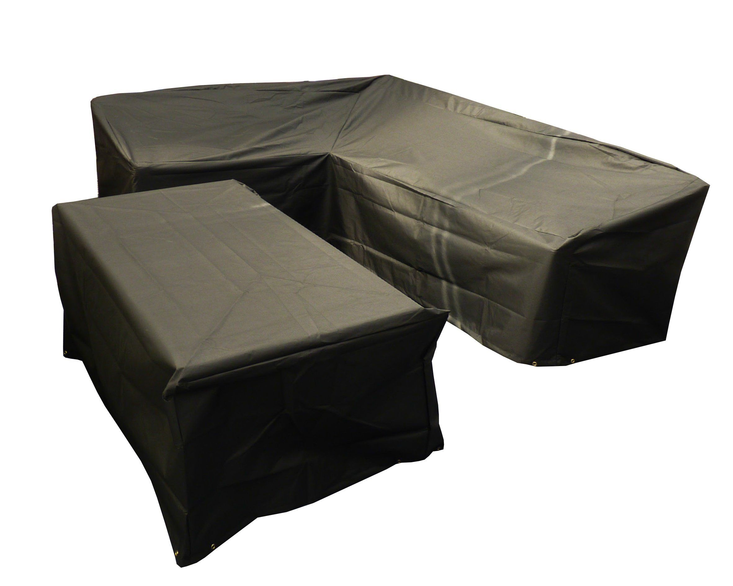 Bosmere M668 Large L Shape Right Side Long Dining Set Cover Black Set Cover Patio Furniture Covers Garden Sofa