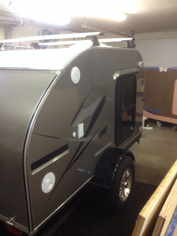 Another Great Teardrop Trailer Roof Rack Setup Using A Rhino Rack Roof Rack  System. The