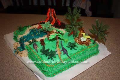 Coolest Dinosaur Scene Cake Design In 2019 Birthday
