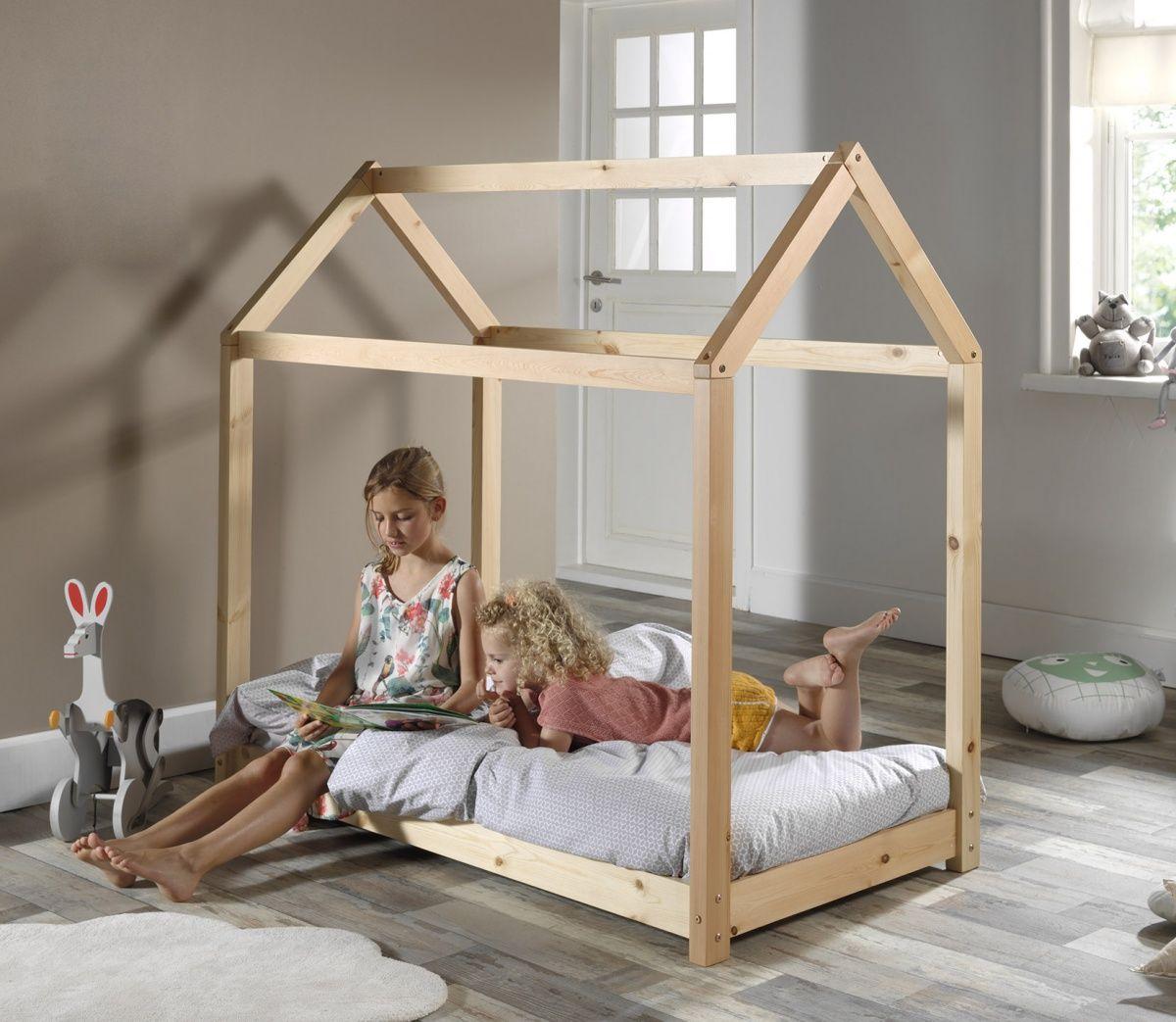Lit Enfant House 70x140 Nordic Factory En 2020 Lit Cabane Lit Enfant Lits Cabine