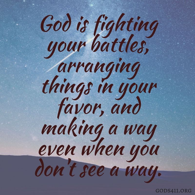 God Is Fighting Your Battles.......