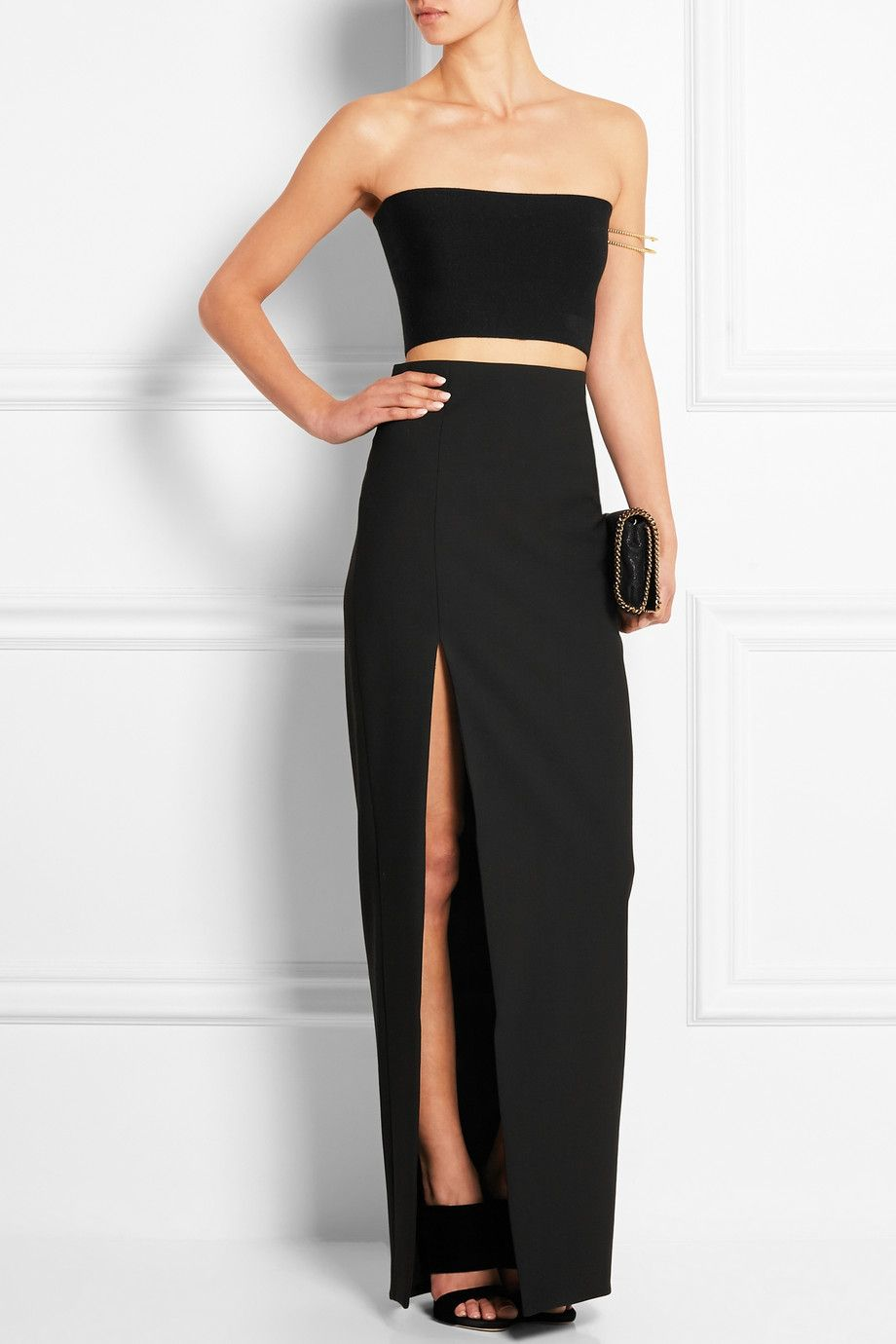 Top dresses to wear to a wedding  Calvin Klein Collection  Stretchknit bandeau top  NETAPORTER