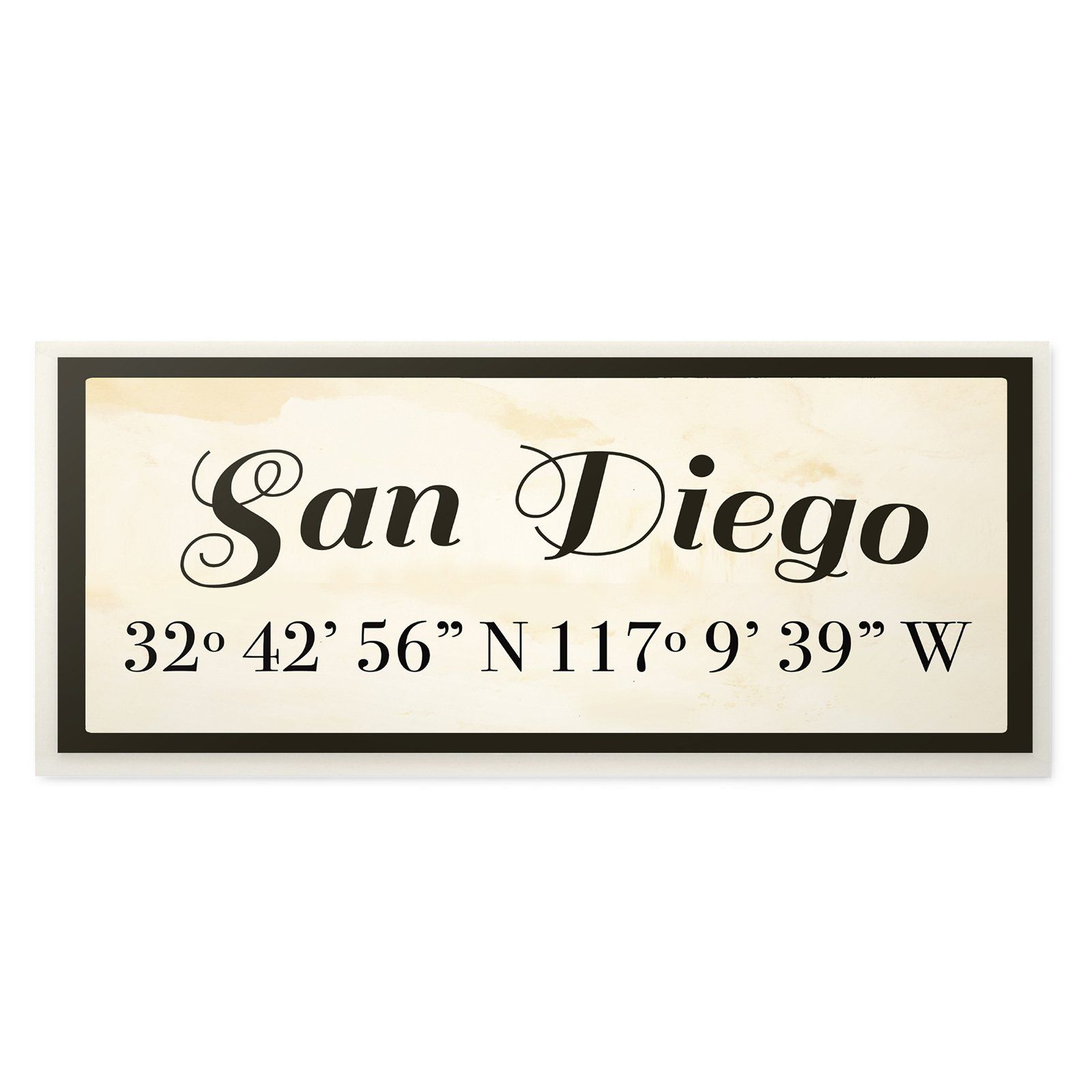 The Stupell Home Decor Collection San Diego City Coordinates Wall Art In 2021 Decor Collection San Diego City San Diego