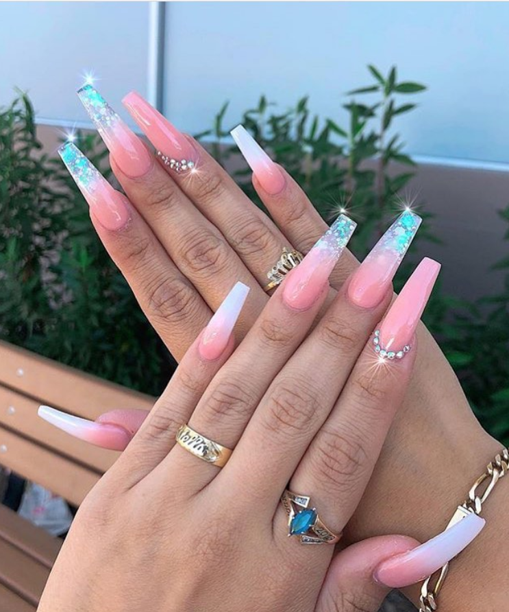 50 Stunning And Gorgeous Summer Coffin Acrylic Nail