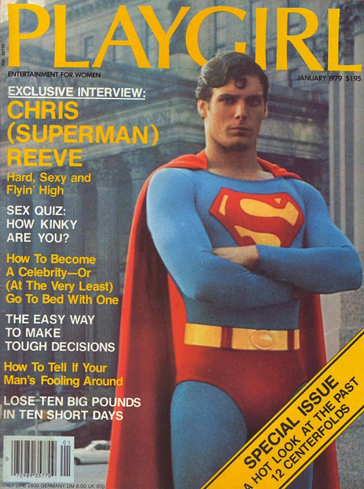 Christopher Reeve In Superman On The Cover Of Playgirl -7256
