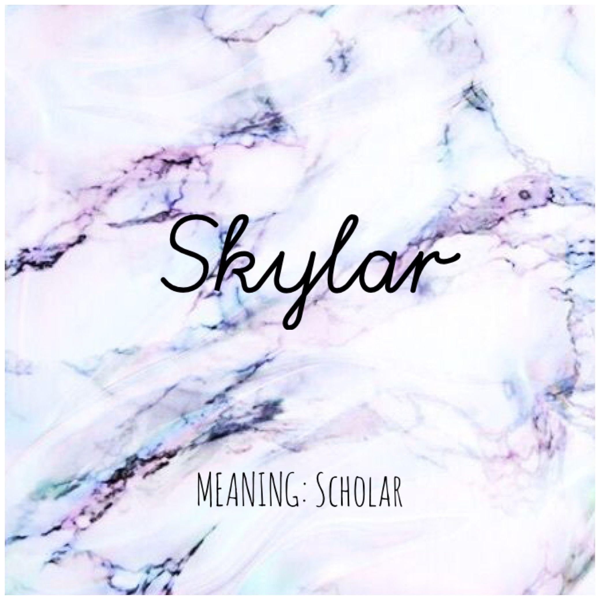 SKYLAR #Names #Skylar #BabyNames | Names with meaning ...