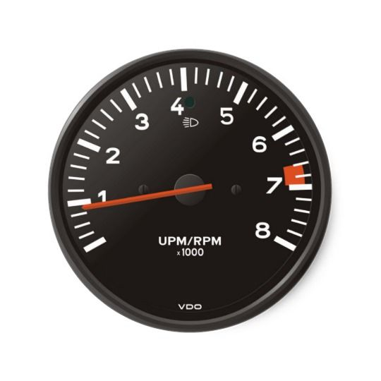 Classic 911 rev counter (old air-cooled car) classic round sticker | Zazzle.com