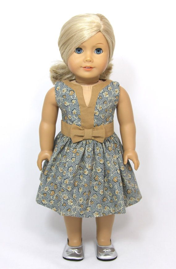 American Girl Doll Spring Easter dress by dollpetitecouture. Pattern found at pixiefaire.com.