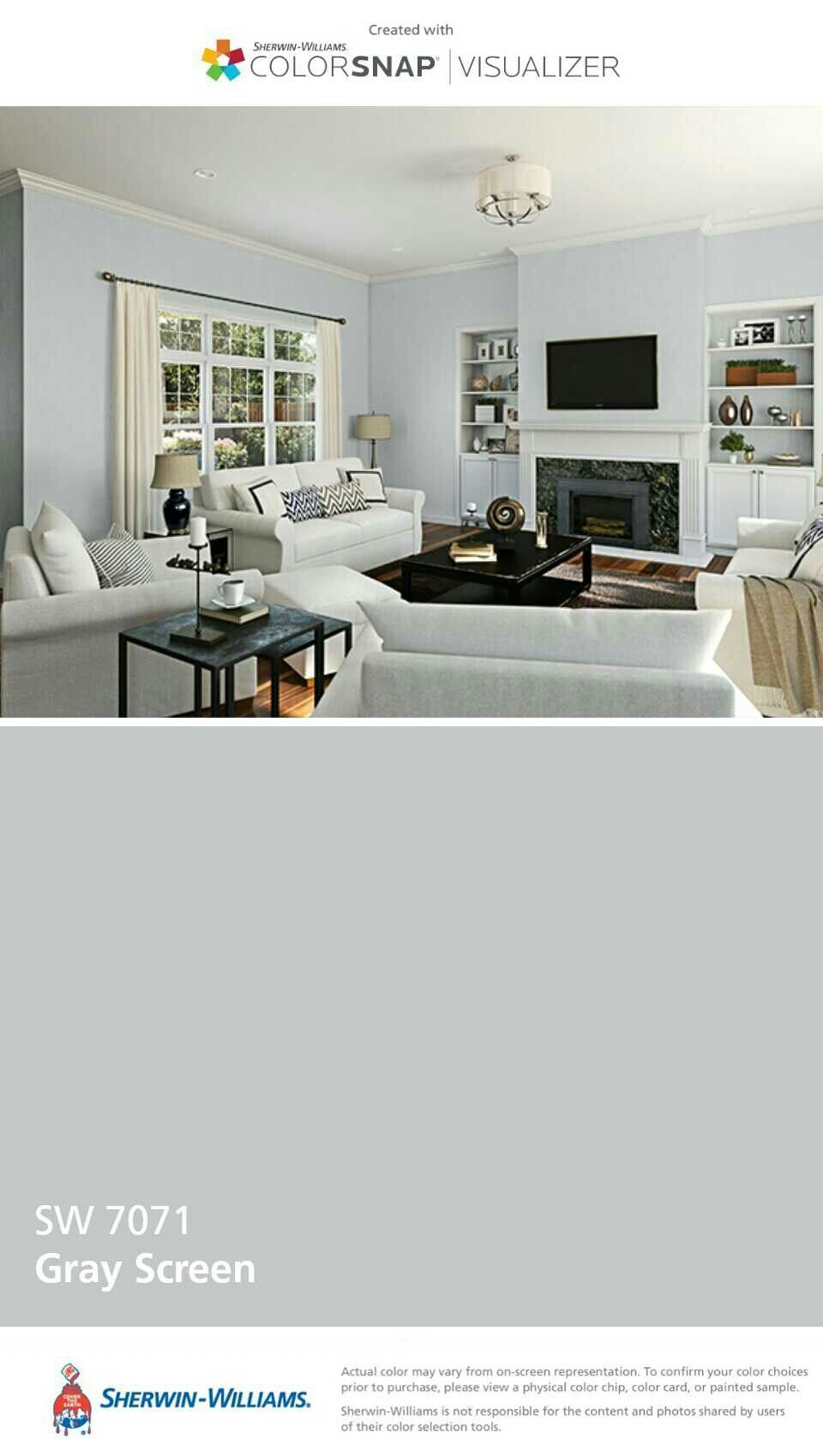 Gray Screen Sw7071 Paint Colors For Living Room Sherwin Williams Home