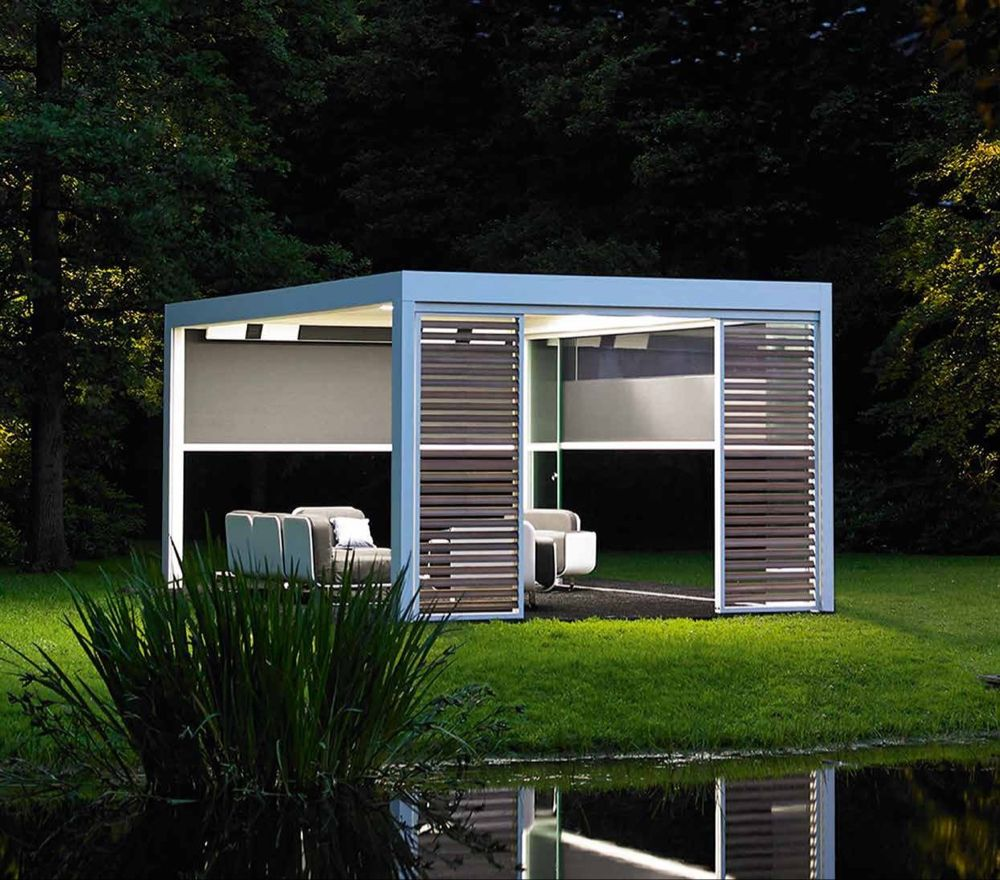 Renson Camargue in 2020 Modern pergola, Roof design, Pergola