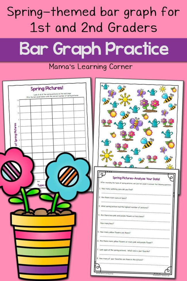 Printable Worksheets printable bar graph worksheets : Spring Picture Bar Graph Worksheets | Bar graphs, Worksheets and Math