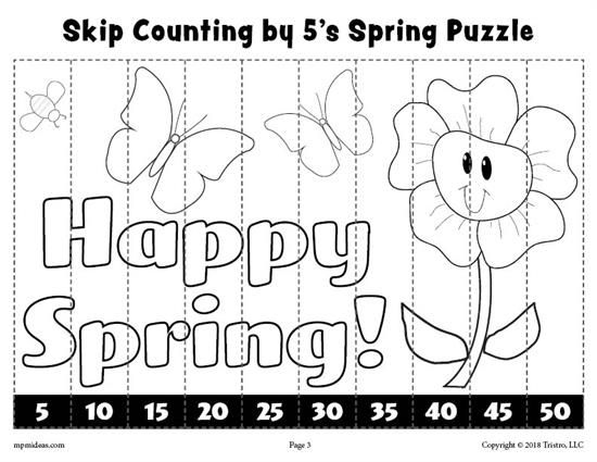 8 FREE Printable Spring Counting Worksheets Counting 110