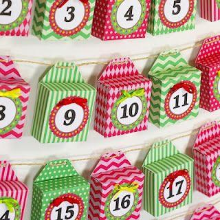 Free printable Christmas Advent Calendar garland from Crafty Ferret