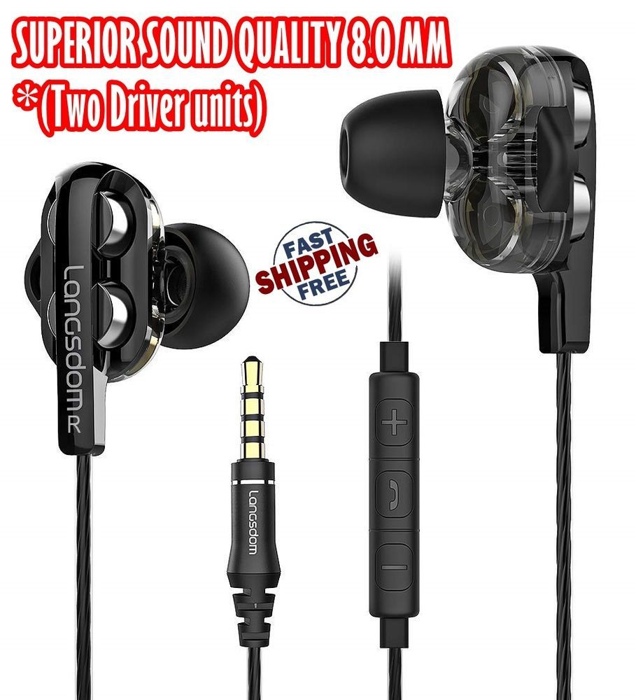 medium resolution of earbuds stereo earbud headphones bass earphones with microphone volume ios doesnotapply