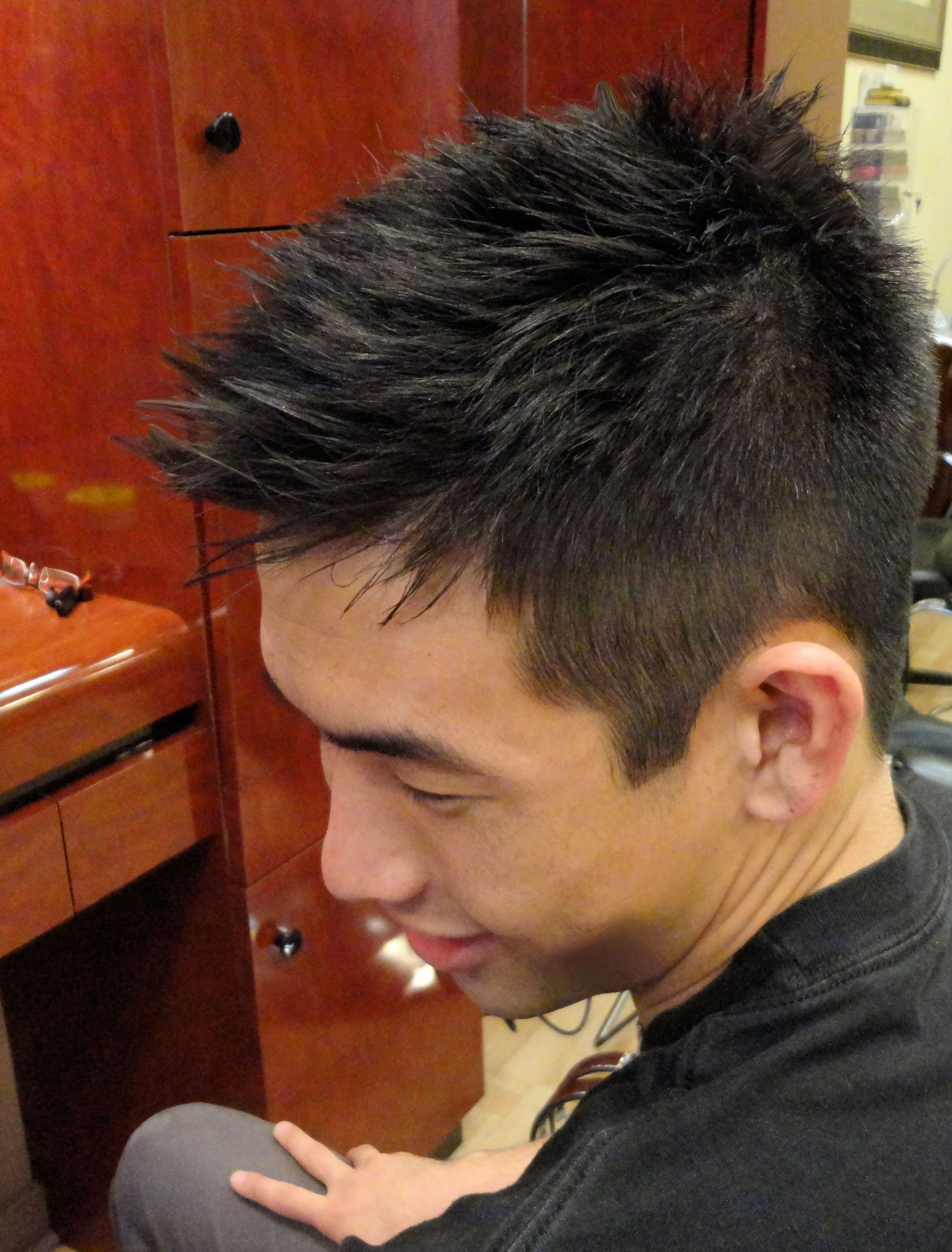 Best Asian men hair style only at AlireHairDesign in our