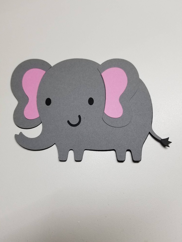 Elephant Cutout Choose Color Of Inner Ears